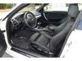 2012 1 Series 128i Coupe Black Interior