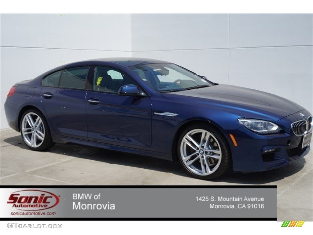 2015 Deep Sea Blue Metallic Bmw 6 Series 640i Gran Coupe