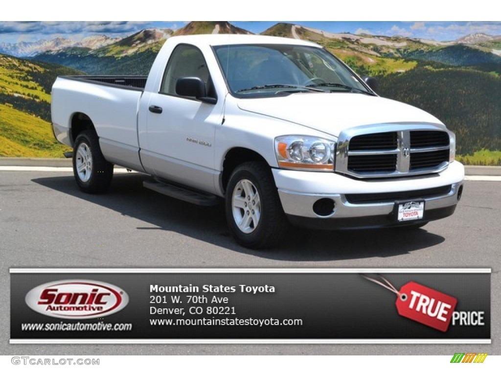 2006 Ram 1500 SLT Regular Cab - Bright White / Medium Slate Gray photo #1