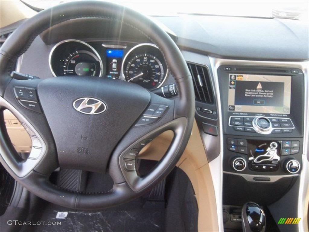 2014 Eclipse Black Hyundai Sonata Hybrid Limited 95042560 Photo 7 Car Color