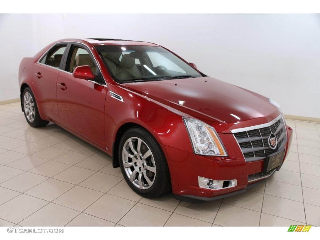 2009 cts 4 awd sedan crystal red cashmere cocoa photo 1
