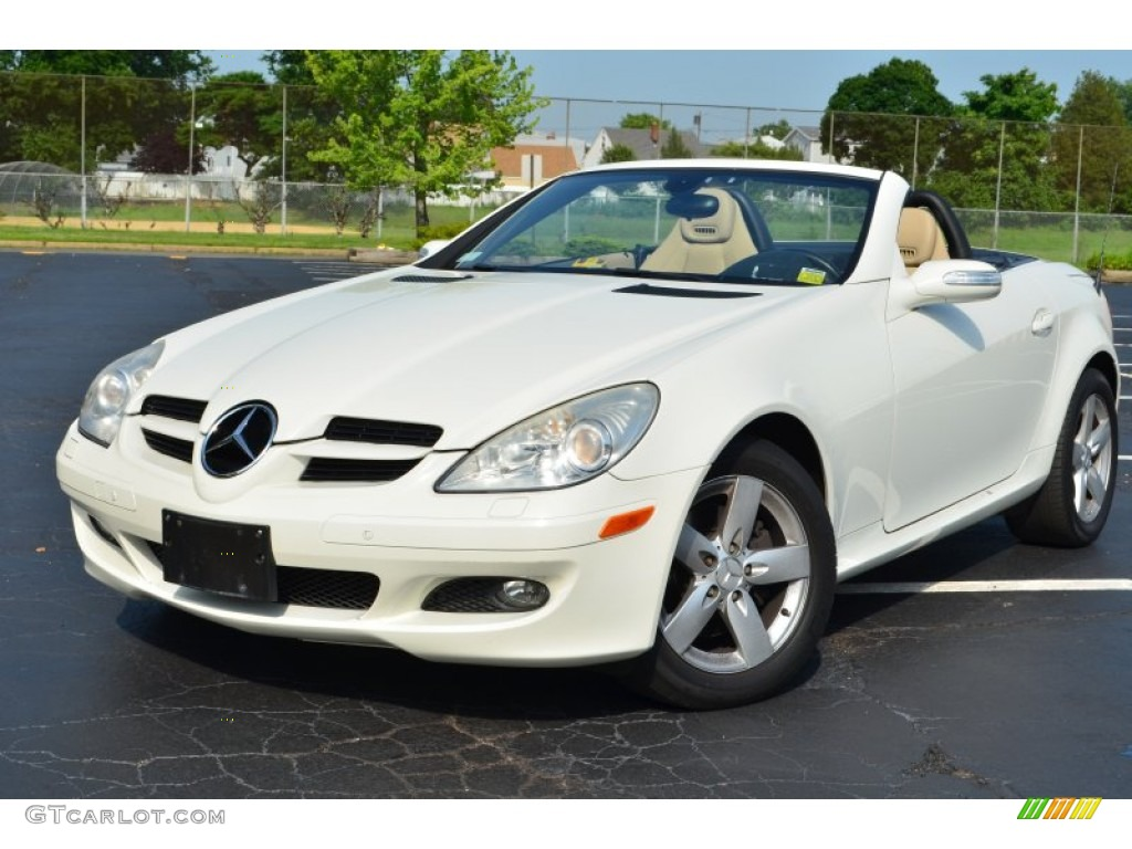 2007 slk 280 roadster arctic white designo sand photo 1