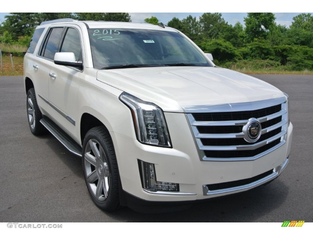 2015 white diamond tricoat cadillac escalade premium 4wd. Black Bedroom Furniture Sets. Home Design Ideas