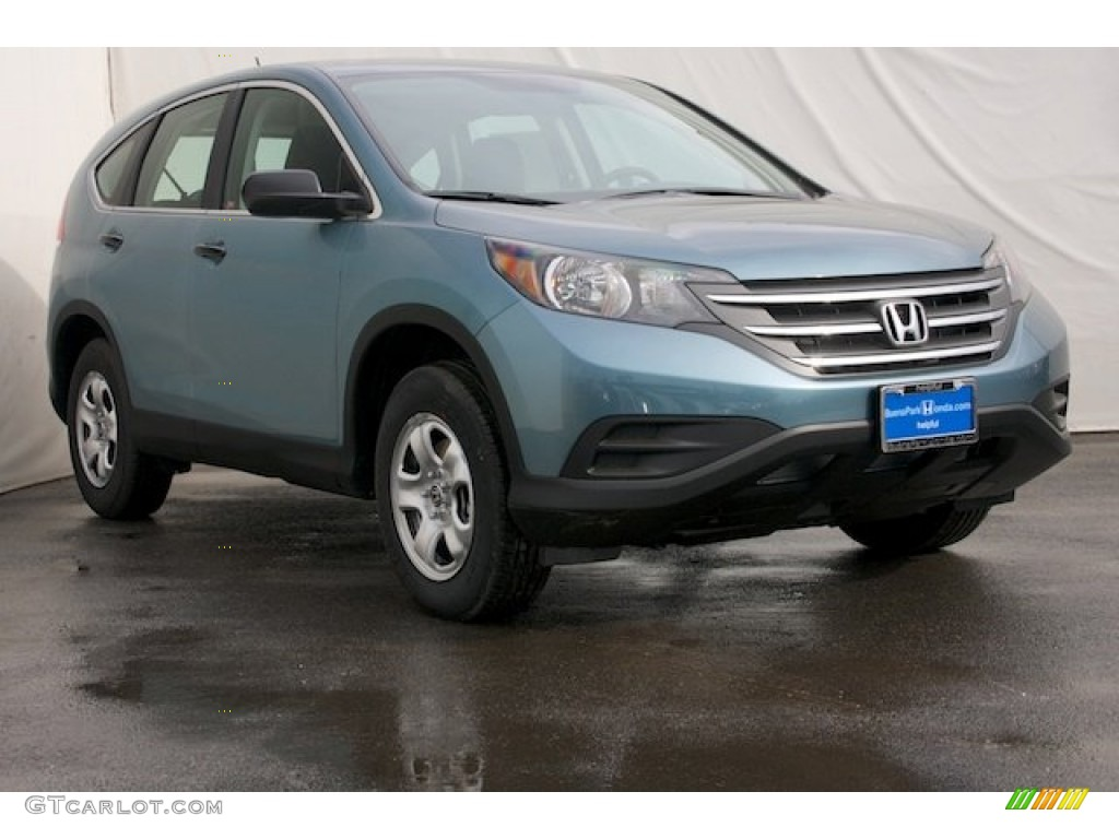2014 CR-V LX - Mountain Air Metallic / Black photo #1
