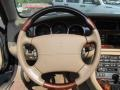 2002 Jaguar XK Oatmeal Interior Steering Wheel Photo