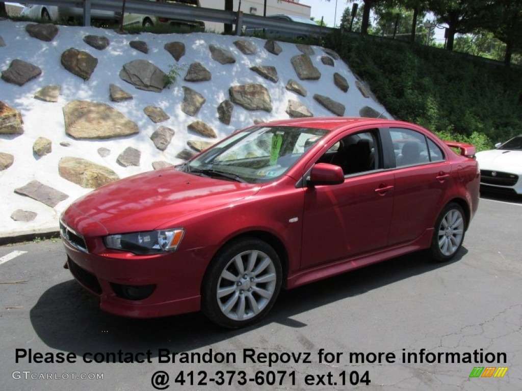 2011 rally red metallic mitsubishi lancer gts 95116834