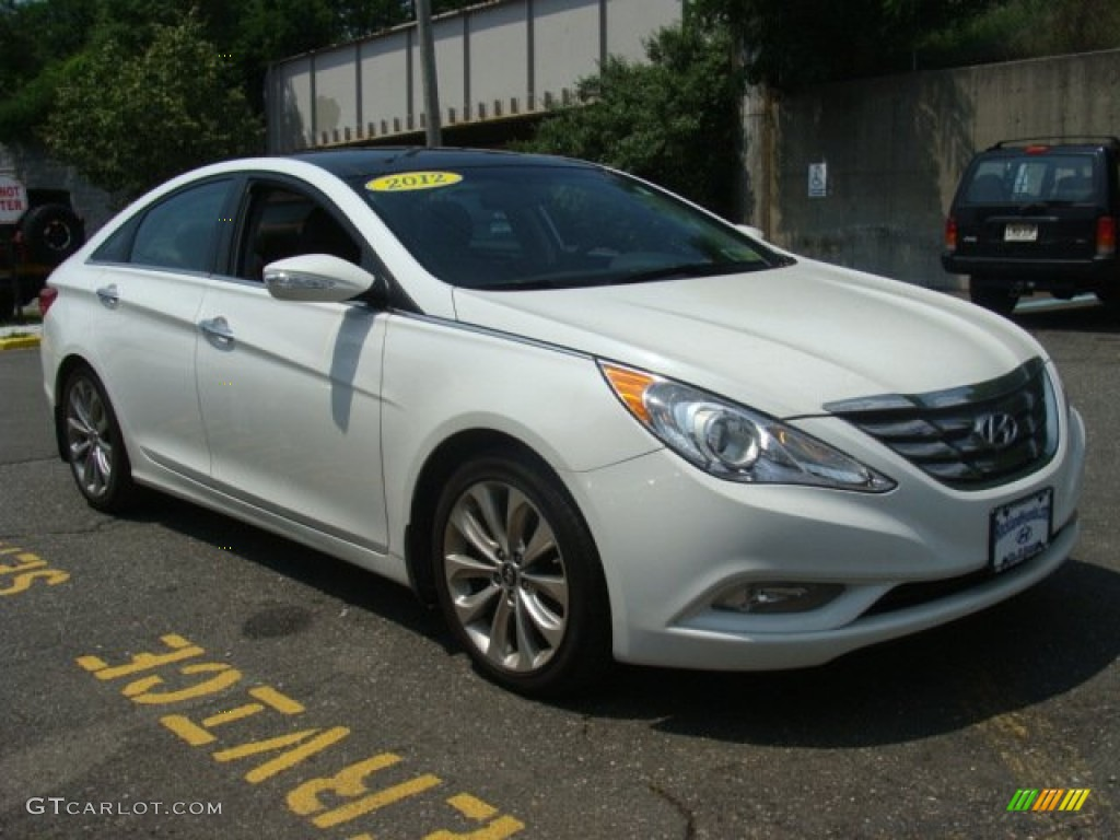 2012 shimmering white hyundai sonata limited 2 0t. Black Bedroom Furniture Sets. Home Design Ideas