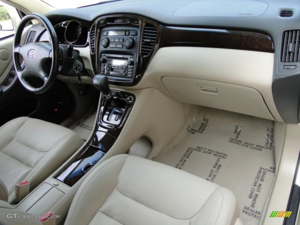 2001 toyota highlander v6 4wd interior color photos