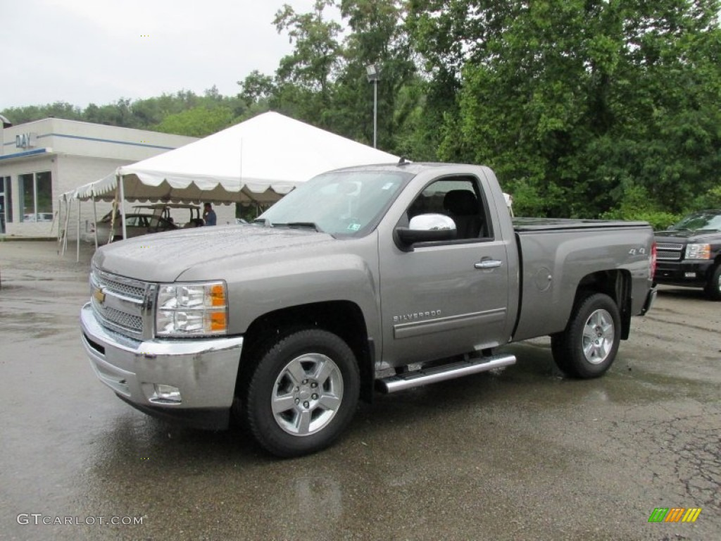 2012 Silverado 1500 LT Regular Cab 4x4 - Graystone Metallic / Ebony photo #1