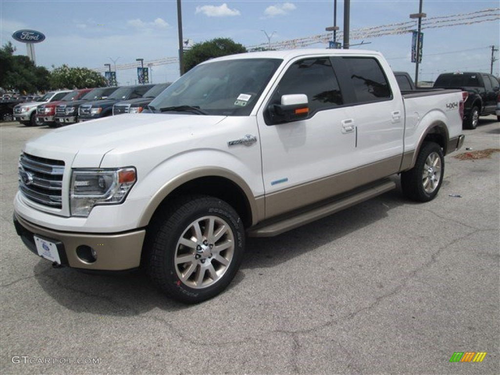 2014 white platinum ford f150 king ranch supercrew 4x4 95171921 photo 2 car. Black Bedroom Furniture Sets. Home Design Ideas