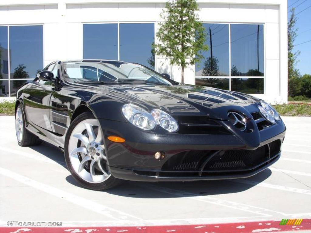 2005 crystal galaxite black metallic mercedesbenz slr