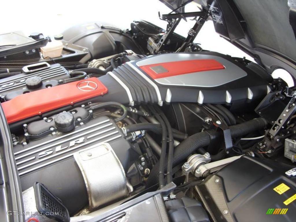 2005 mercedes benz slr mclaren 5 4 liter amg supercharged for Mercedes benz v8 engine