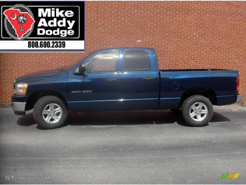 2006 Ram 1500 SLT Quad Cab - Patriot Blue Pearl / Medium Slate Gray photo #1