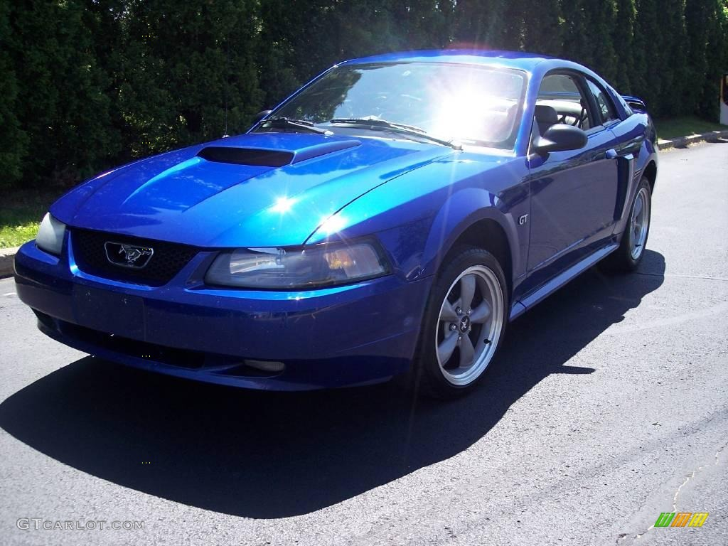 2002 Sonic Blue Metallic Ford Mustang Gt Coupe 9513867 Gtcarlot Com Car Color Galleries