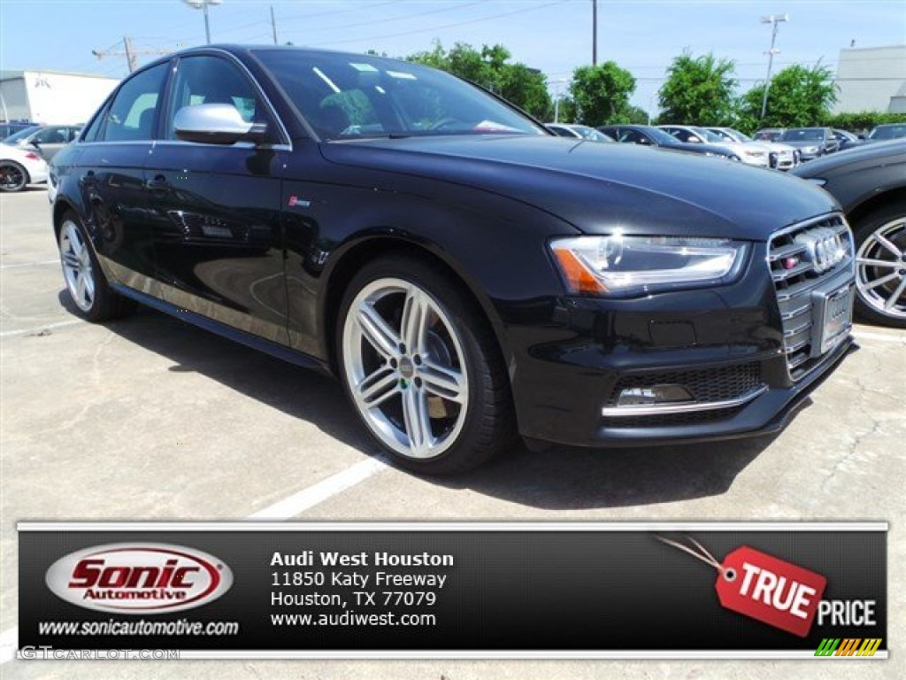 2014 S4 Premium plus 3.0 TFSI quattro - Phantom Black Pearl / Black/Magma Red photo #1