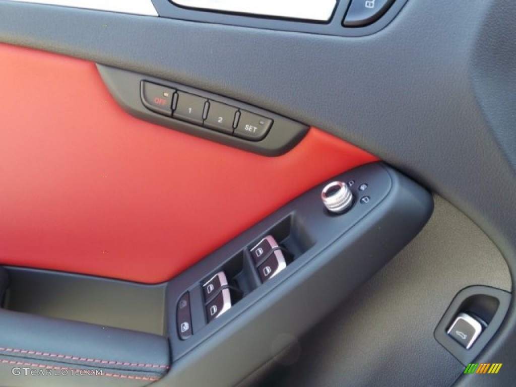 2014 S4 Premium plus 3.0 TFSI quattro - Phantom Black Pearl / Black/Magma Red photo #11