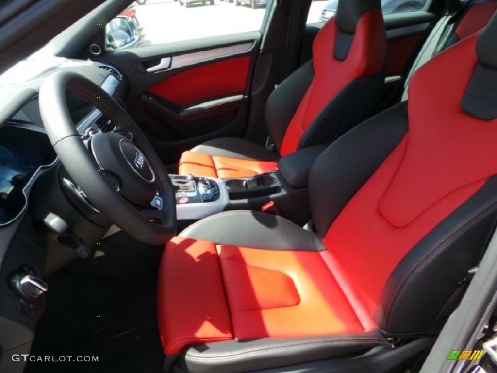 2014 S4 Premium plus 3.0 TFSI quattro - Phantom Black Pearl / Black/Magma Red photo #13