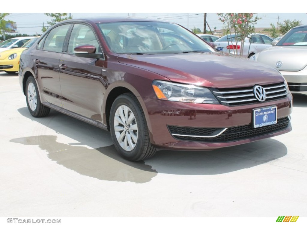 2014 Passat 1.8T Wolfsburg Edition - Opera Red Metallic / Cornsilk Beige photo #1