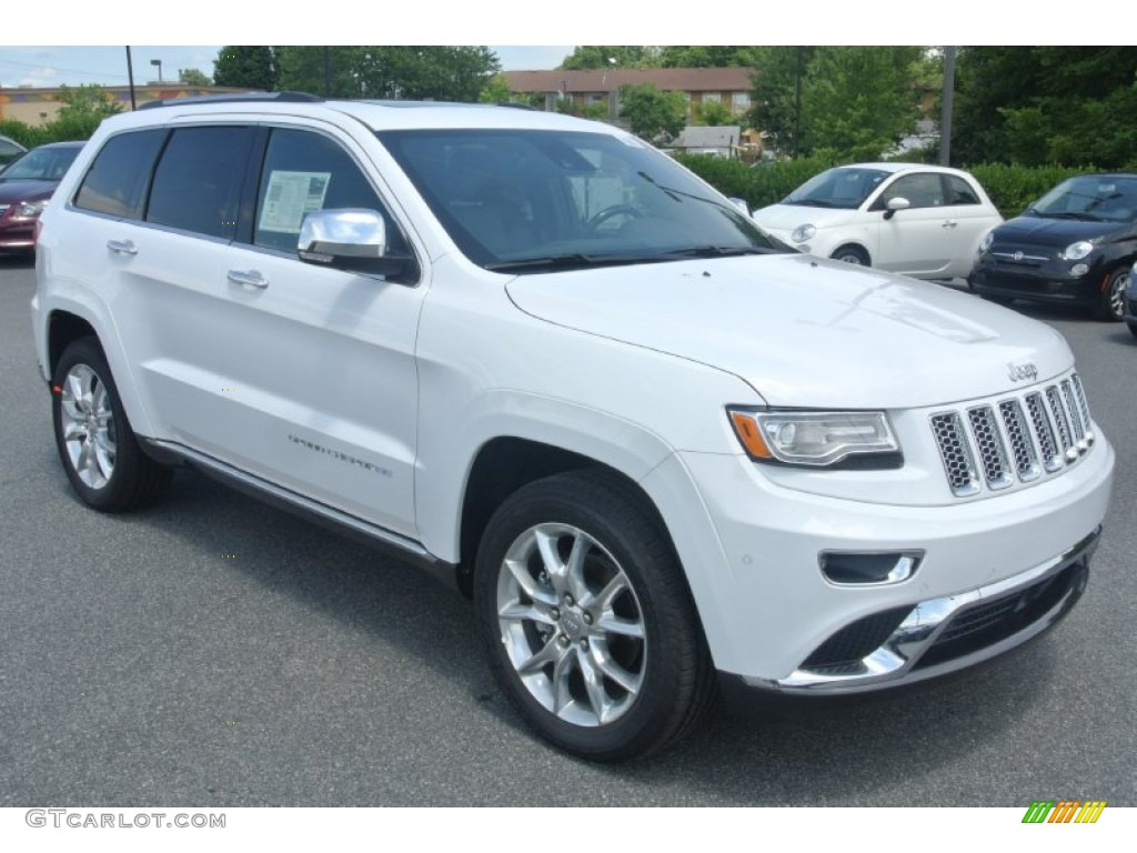 bright white 2014 jeep grand cherokee summit 4x4 exterior photo 95296978. Black Bedroom Furniture Sets. Home Design Ideas