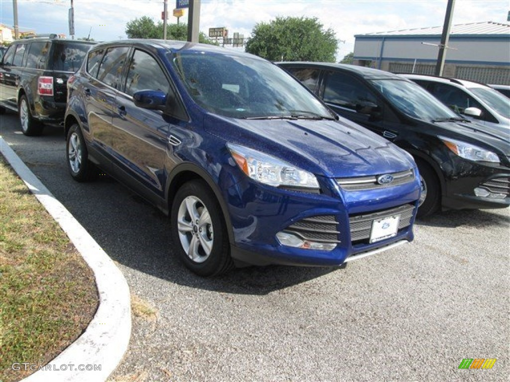 2014 Escape SE 1.6L EcoBoost - Deep Impact Blue / Medium Light Stone photo #3