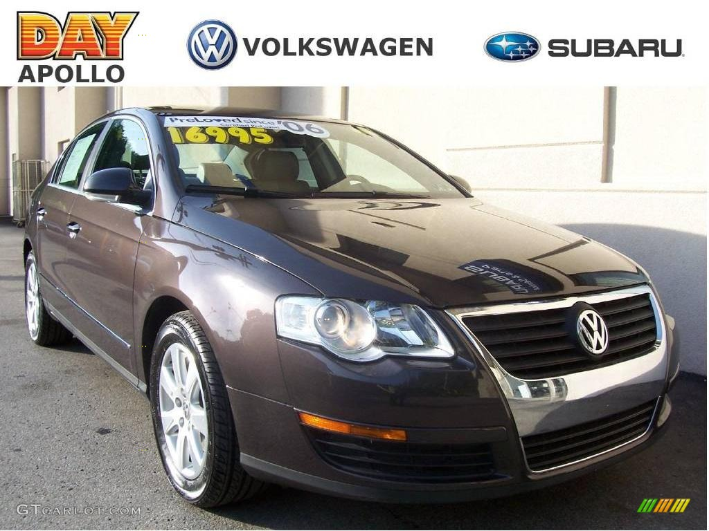 2006 mocha brown volkswagen passat 2 0t sedan 9505064 car color galleries. Black Bedroom Furniture Sets. Home Design Ideas