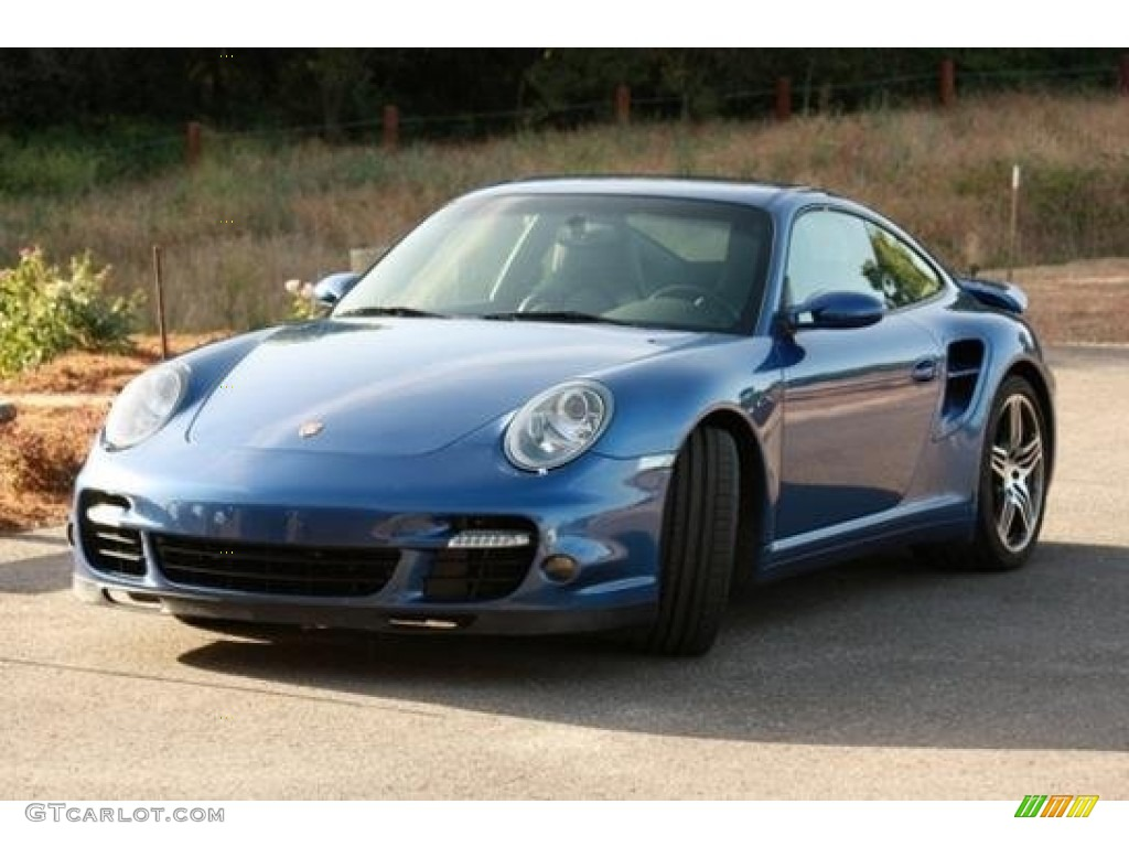 2007 911 Turbo Coupe - Cobalt Blue Metallic / Black photo #1