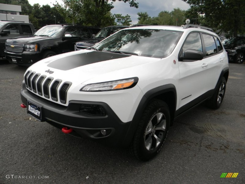 Jeep Cherokee White And Black >> 2014 Bright White Jeep Cherokee Trailhawk 4x4 #95469013 Photo #9 | GTCarLot.com - Car Color ...
