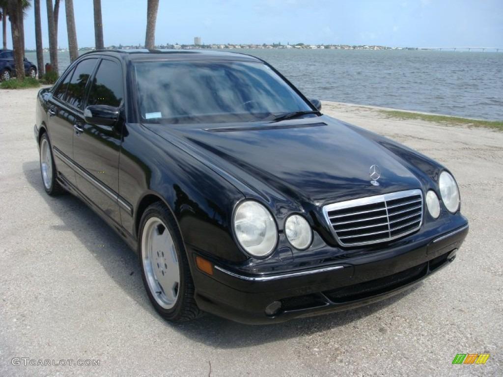 Black 2000 Mercedes-Benz E 55 AMG Sedan Exterior Photo ...