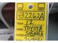2012 Silver Sky Metallic Toyota Sienna XLE  photo #21