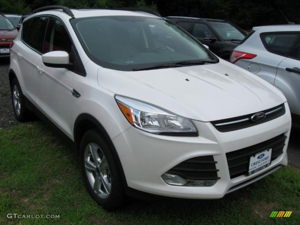 2014 Escape SE 1.6L EcoBoost 4WD - White Platinum / Charcoal Black photo #1