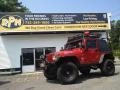 Flame Red 2000 Jeep Wrangler Sport 4x4