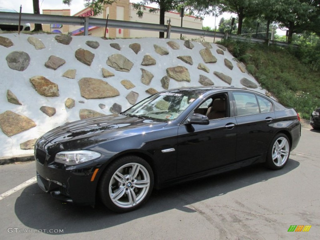 2013 5 series 535i xdrive sedan carbon black metallic cinnamon brown photo 1