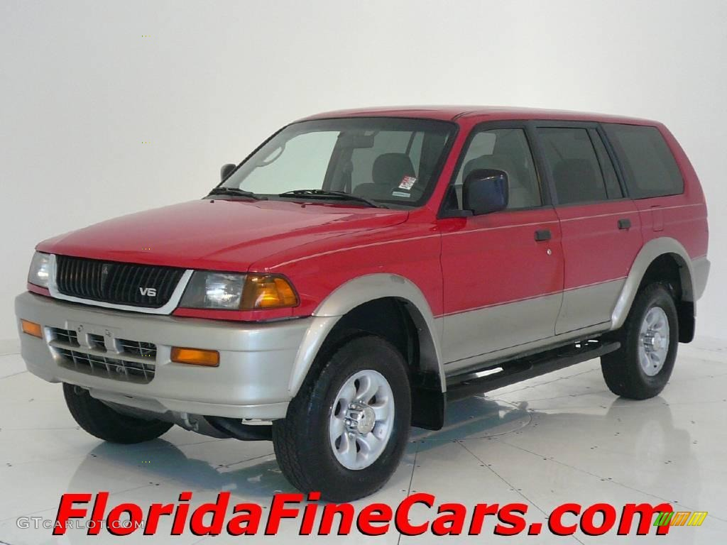 1998 Cambridge Red Pearl Mitsubishi Montero Sport Ls
