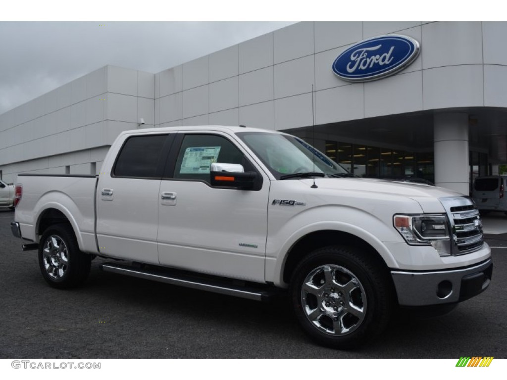 2014 white platinum ford f150 lariat supercrew 95608246. Black Bedroom Furniture Sets. Home Design Ideas