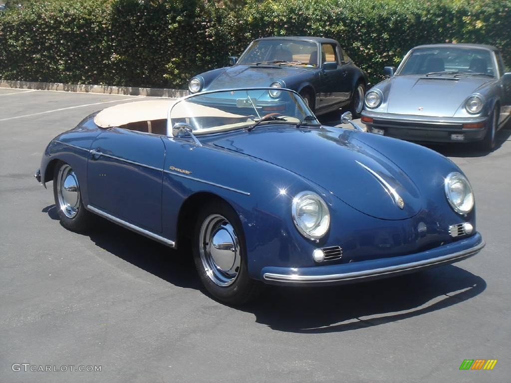 1956 Blue Porsche 356 Speedster Recreation 924555 Photo