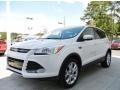 White Platinum Metallic Tri-Coat 2013 Ford Escape SEL 2.0L EcoBoost
