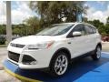 2014 White Platinum Ford Escape Titanium 1.6L EcoBoost  photo #1