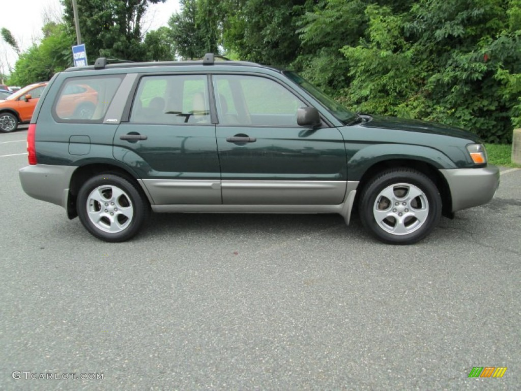 Woodland Green Pearl 2004 Subaru Forester 2 5 Xs Exterior Photo 95746038