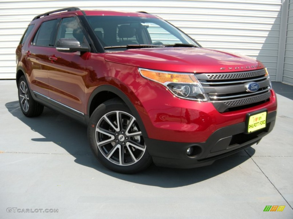 2015 ford explorer xlt ruby red color charcoal black interior 2015