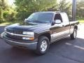 2002 Onyx Black Chevrolet Silverado 1500 LS Extended Cab 4x4  photo #3