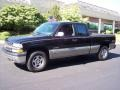 2002 Onyx Black Chevrolet Silverado 1500 LS Extended Cab 4x4  photo #44