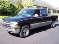2002 Onyx Black Chevrolet Silverado 1500 LS Extended Cab 4x4  photo #45