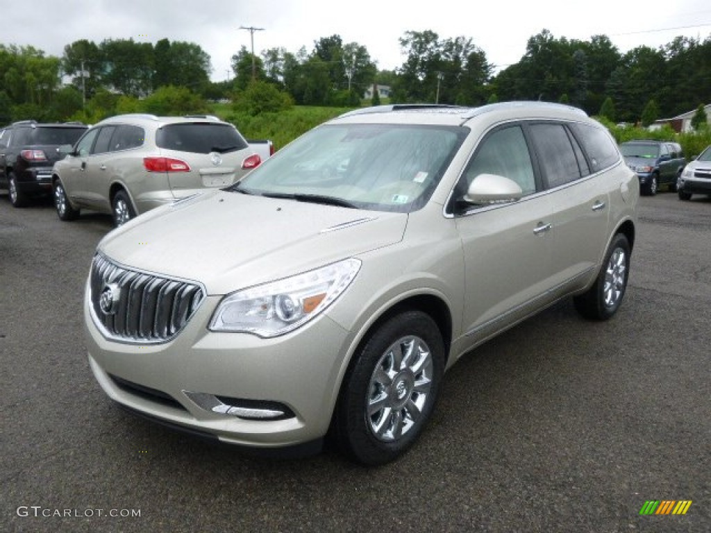 2015 champagne silver metallic buick enclave leather 95804205