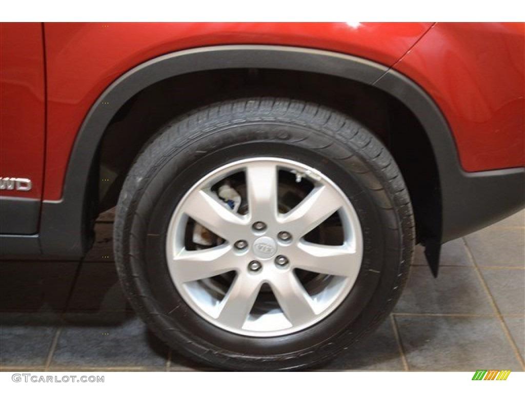 2011 Sorento LX AWD - Spicy Red / Gray photo #5