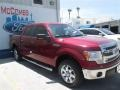 2014 Ruby Red Ford F150 XLT SuperCrew  photo #4