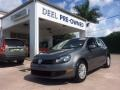 United Gray Metallic 2011 Volkswagen Golf 4 Door