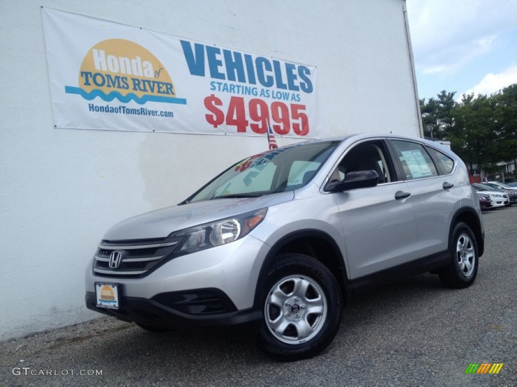 2013 CR-V LX AWD - Alabaster Silver Metallic / Gray photo #1