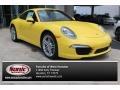 Racing Yellow 2015 Porsche 911 Carrera Coupe
