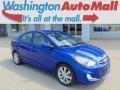 Marathon Blue 2012 Hyundai Accent GLS 4 Door