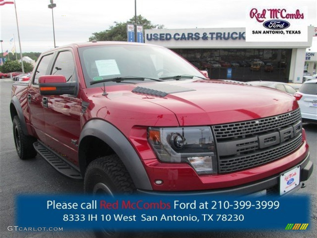 2014 F150 SVT Raptor SuperCrew 4x4 - Ruby Red / Raptor Special Edition Black/Brick Accent photo #1